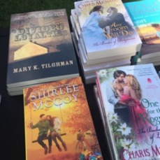 There's my book among all the Maryland Romance writers' works.