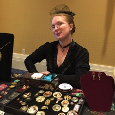 Not only does this lovely lady make Victorian jewelry, Leanna Renee Hieber writes Gothic novels.